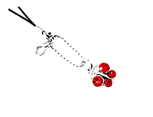Red Butterfly Cell Phone Charm