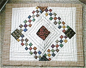 Pillow Sham Quilted Diamond Pattern