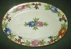 Flowered Platter Made In Japan