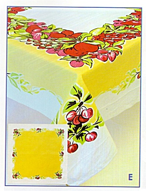 Vintage Pattern Fruit Cocktail Tablecloth (Image1)