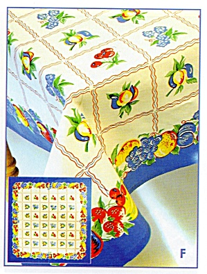 Vintage Pattern Fruit Salad Tablecloth (Image1)