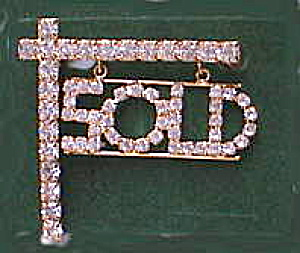 Rhinestone Sold Hanging From Post