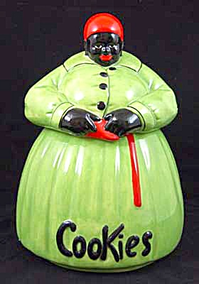 McCoy Green Dress Mammy Cookie Jar (Image1)
