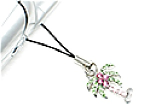 Palm Tree Rhinestone Cell Phone Charm (Image1)
