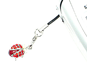 Red Ladybug Cell Phone Charm (Image1)