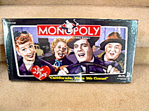 I Love Lucy Going To California Monopoly Mint