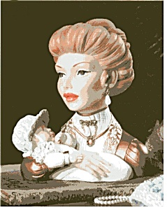 Cameo Girl Headvase Judith A Mother's Love
