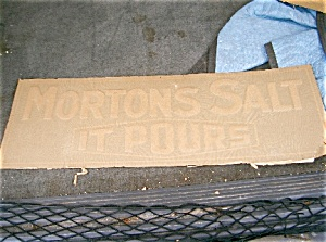 Morton's Salt Blue/ White Metal Pre 1910 Sign