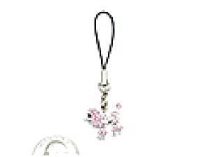 Pink Rhinestone Poodle Cell Phone Charm (Image1)
