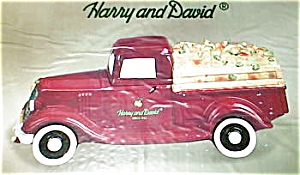Harry And David Red Truck Cookie Jar