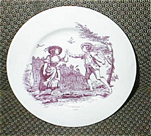 Toile Transferware Red Plate #4 Schmidt