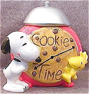 Snoopy and Woodstock Alarm Clock Cookie Jar (Image1)