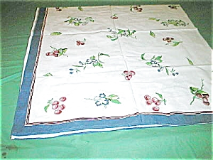 Vintage Remake Of Cherry Tablecloth