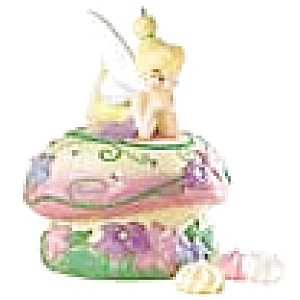 Tinkerbell on a Mushroom Cookie Jar (Image1)