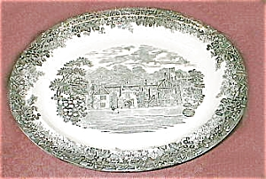 Toile Black And White Transferware Platter