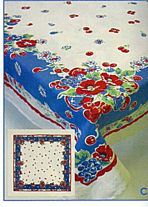 Vintage Pattern Cherry, Flowers Tablecloth (Image1)