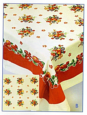 Vintage Pattern Apples Tablecloth w/Holder (Image1)