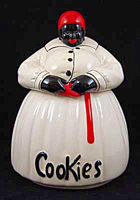 Big Mama Mammy White Dress Cookie Jar Mccoy?