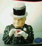 Click here to enlarge image and see more about item 0001: W.C. Fields Salt & Pepper