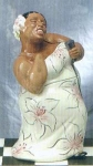 Click here to enlarge image and see more about item 0038: Clay Art Jazz Diva Cookie Jar