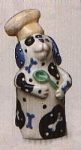 Click here to enlarge image and see more about item 0065: Dana Simson Pie Bird ceramic Dog