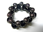 Ethel & Myrtle triple filigree/bead bracelet