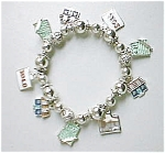 Click here to enlarge image and see more about item 1G-702: Real Estate, Realtor Charm Bracelet