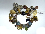 Click here to enlarge image and see more about item 2790: Ethel & Myrtle Chunky Charm Bracelet
