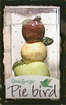 Click here to enlarge image and see more about item applepiebird: Dana Simson Apple Pie Bird