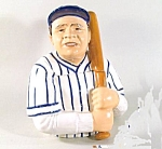 Babe Ruth Yankees Clay Art Cookie Jar