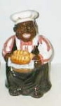 Click here to enlarge image and see more about item baker: Black  American Baker Cookie Jar