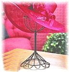 Click here to enlarge image and see more about item blackhatstand: Twisted Wire Bronze Vintage Style Hat Stand