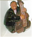 Click here to enlarge image and see more about item blackx20basex20player: Black Americana cookie jar Bass Player