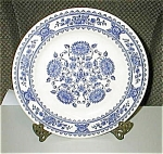 Click here to enlarge image and see more about item blueandwhiteround: Blue and White Round Plate
