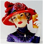 Click here to enlarge image and see more about item BlytheRedHatCameoGirl: Blythe 1915 Cameo Girl Lady in Red Hat