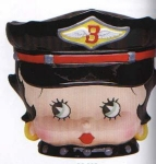 Betty Boop Biker Head Cookie Jar
