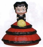 Click here to enlarge image and see more about item boopinred: Betty Boop in Ruffles Cookie Jar