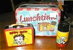 Click here to enlarge image and see more about item booplunchbox: Betty Boop Lunch Box Salt & Pepper by Vandor