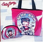 Click here to enlarge image and see more about item booppurseset: Betty Boop set of 2 Handbag Purse
