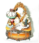 Click here to enlarge image and see more about item brownx20dresser: Victorian Brown Dresser Porcelain Box