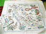 Click here to enlarge image and see more about item californiamoda: Vintage Pattern California 52 X 52 Tablecloth