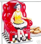 Click here to enlarge image and see more about item carbsno: Carbs NO, Cookies Yes Red Chair Cookie Jar