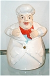 Click here to enlarge image and see more about item chefwithredtie: Chef with Red Scarf cookie jar