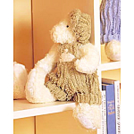 Click here to enlarge image and see more about item chenillebear: Chenille Green Bear