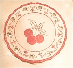 Click here to enlarge image and see more about item cherryplate: Cherry Plate with Heart Cut Outs
