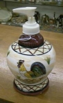 Click here to enlarge image and see more about item chixlotion: Rooster Lotion Dispenser