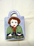 Click here to enlarge image and see more about item clara: Ganz Susan Paley Ceramic Purse Clara