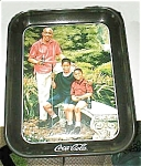 Click here to enlarge image and see more about item coketeeofftray: Tee Off Coca Cola Coke Tray