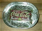 Click here to enlarge image and see more about item coketray: Coca Cola, Coke Galvanized Tray