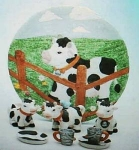 Click here to enlarge image and see more about item cowtset: Cow childrens teaset